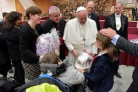 Pouť ke cti patrona diecéze vyvrcholila setkáním s papežem Františkem
